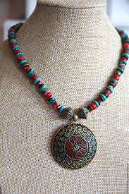 turquoise tibetan necklace images Necklace tibet coral and turquoise ethnic boho coral coral jpg