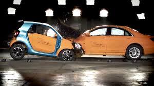 lamborghini vs smart car mercedes s class vs smart fortwo crash test