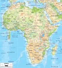 Map Of United States Physical Features by Physical Map Of Africa Ezilon Maps