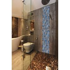 bathroom glass tile ideas tst glass stone tiles black dark grey squared grid marble kitchen