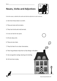 adjectives and nouns worksheet parenting identifying nouns verbs and adjectives in a