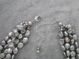 silver freshwater pearl necklace images Shimmering silver freshwater pearl multi strand necklace jpeg