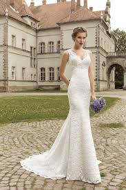 lace mermaid wedding dress v neck sleeveless lace up back mermaid wedding dress uniqistic