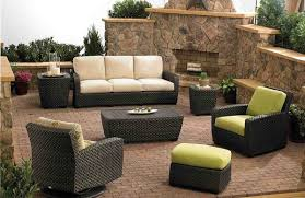Allen And Roth Patio Chairs Shop Allenoth Gatewood Count Brown Aluminum Patio And Furniture