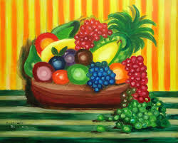 fruit in a basket fruits in a basket show diferrent sorts of fresh fruits and help