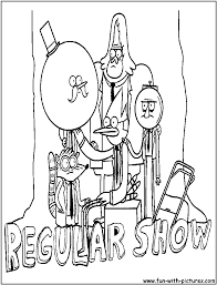 regular show coloring pages draw 3613