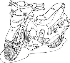free motorcycle coloring page letscoloringpages com scooter free