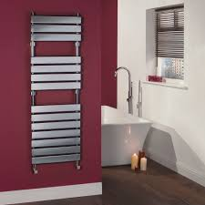 Designer Kitchen Radiators Signelle Designer Flat Panel Chrome Plated Towel Radiator Rail 59