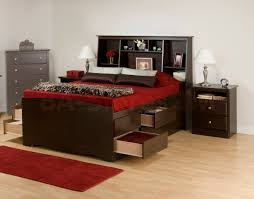 Double Bed Designs With Drawers Interior Fancy Decoration For Girls Bedroom Using White Wooden