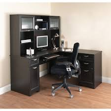 Sauder Traditional L Shaped Desk Realspace Magellan L Shaped Desk With Hutch Plus Drawers And Co