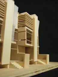 Row House Model - 2nd year design studio 2003 2004 by peter michael mang at coroflot com