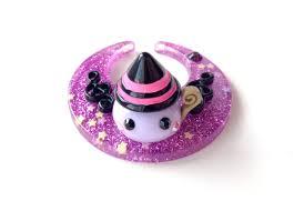purple moon mage hoppe chan figure black music notes cute magic
