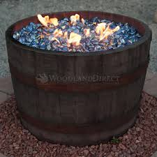 Wine Barrel Fire Pit Table by Wine Barrel Fire Pit Rust Woodlanddirect Com Outdoor