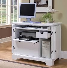 Small White Corner Computer Desk Corner Computer Desk With Printer Shelf Awesome Small White
