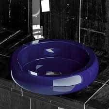 cobalto blue stainless steel vessel sink