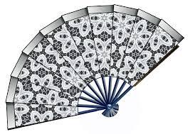 black lace fan lace fan clipart explore pictures