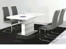 Gloss Dining Tables Furnitureinfashion Announce The Launch Of Modern High Gloss Dining