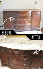 How To Install A Bathroom Sink And Vanity by 4 Make A Bathroom Vanity Out Of An Old Dresser Bathroom Ideas