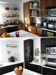 stained kitchen cabinets stained kitchen cabinets before and after home design ideas