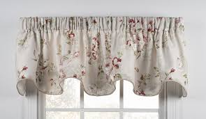 Grommet Top Valances Chatsworth Floral Print Lined Grommet Top Panel Window Curtain
