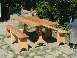 Round Redwood Picnic Table by Custom Outdoor Furniture Picnic Tables Custommade Com