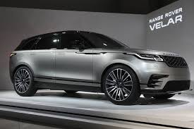 bmw q7 car range rover velar targets audi q7 and bmw x5 with road car manners