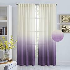 Ombre Sheer Curtains Turquoize Ombré Semi Sheer Curtains Back Tab Top Linen Filmy