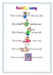 family song worksheet by nona