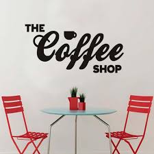 wall sticker adhesive letters the coffee shop bar window glass