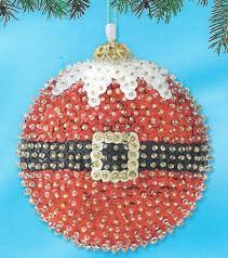 diy christmas ornaments all you need is a styrofoam ball sequins