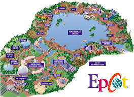 Disney World Maps Epcot Disney World Resort Within Map Of Epcot Showcase Map Of