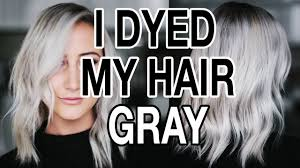 silver hair with lowlights dying my hair gray silver hair q a youtube