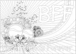 bff coloring pages to download and print for free kleurplaten