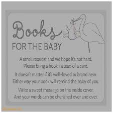 Bring Book Instead Of Card To Baby Shower Baby Shower Invitation Unique Baby Shower Books Instead Of Cards