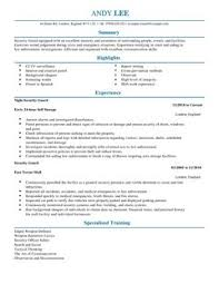 security guard resume security guard cv exle for emergency services livecareer