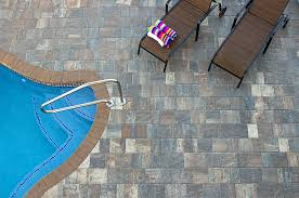 Round Patio Stones by Stone Texture Exterior Design Terrific Tremron Pavers For Your