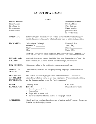 Activity Resume Template Resume Layout Samples Resume Templates