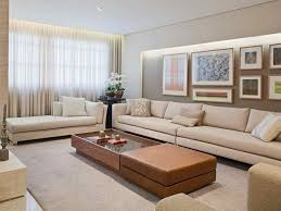 recessed lighting curtains window sheers art beige couch leather