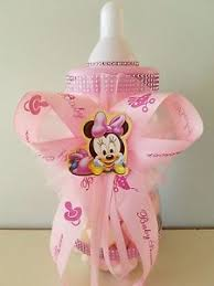 minnie mouse center pieces minnie mouse centerpiece bottle large 14 baby shower piggy bank