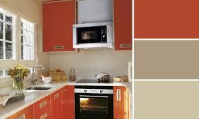 peinture orange cuisine cuisine couleur orange
