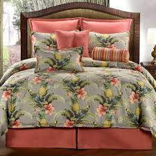 Tropical Comforter Sets King Bedroom Light Grey Coastal Bedding Collections With Star Fish And