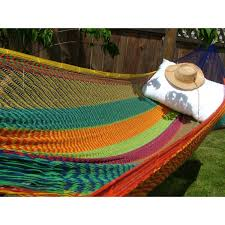 multicolor handmade mayan hammock green gift idea