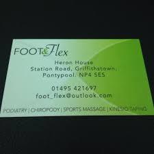 Sports Massage Business Cards Foot U0026 Flex Foot Flex Twitter
