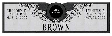 Flat Grave Markers With Vase Model Sd339a V Companion Grave Marker With Vase Gravestones And