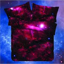 galaxy bedding set home textile 4pcs universe outer space themed