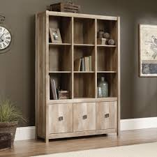 Storage Bookcase With Doors Cannery Bridge Storage Wall 416091 Sauder