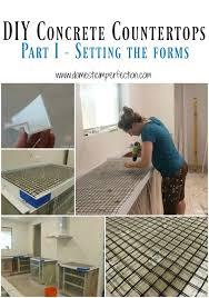 How To Make A Concrete Bench Top Diy Concrete Countertops Part I Setting The Forms Concrete