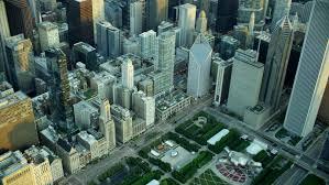 Chicago june 2016 aerial illinois usa cityscape roof skyscraper