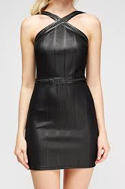 chain bandage bodycon dress black just 5