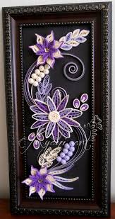 ayani art purple quilling frame quilling kwiaty z fioletem